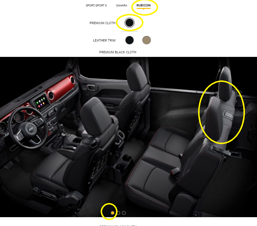 2019 Jeep Wrangler Unlimited Interior: Confusion With The Seat Configurations