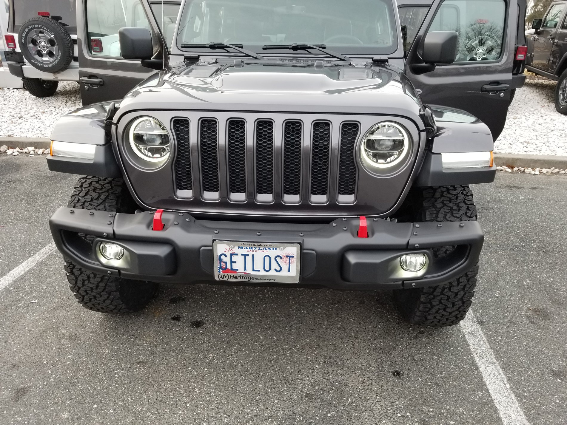 Rubicon Front License Plate Bracket 2018 Jeep Wrangler