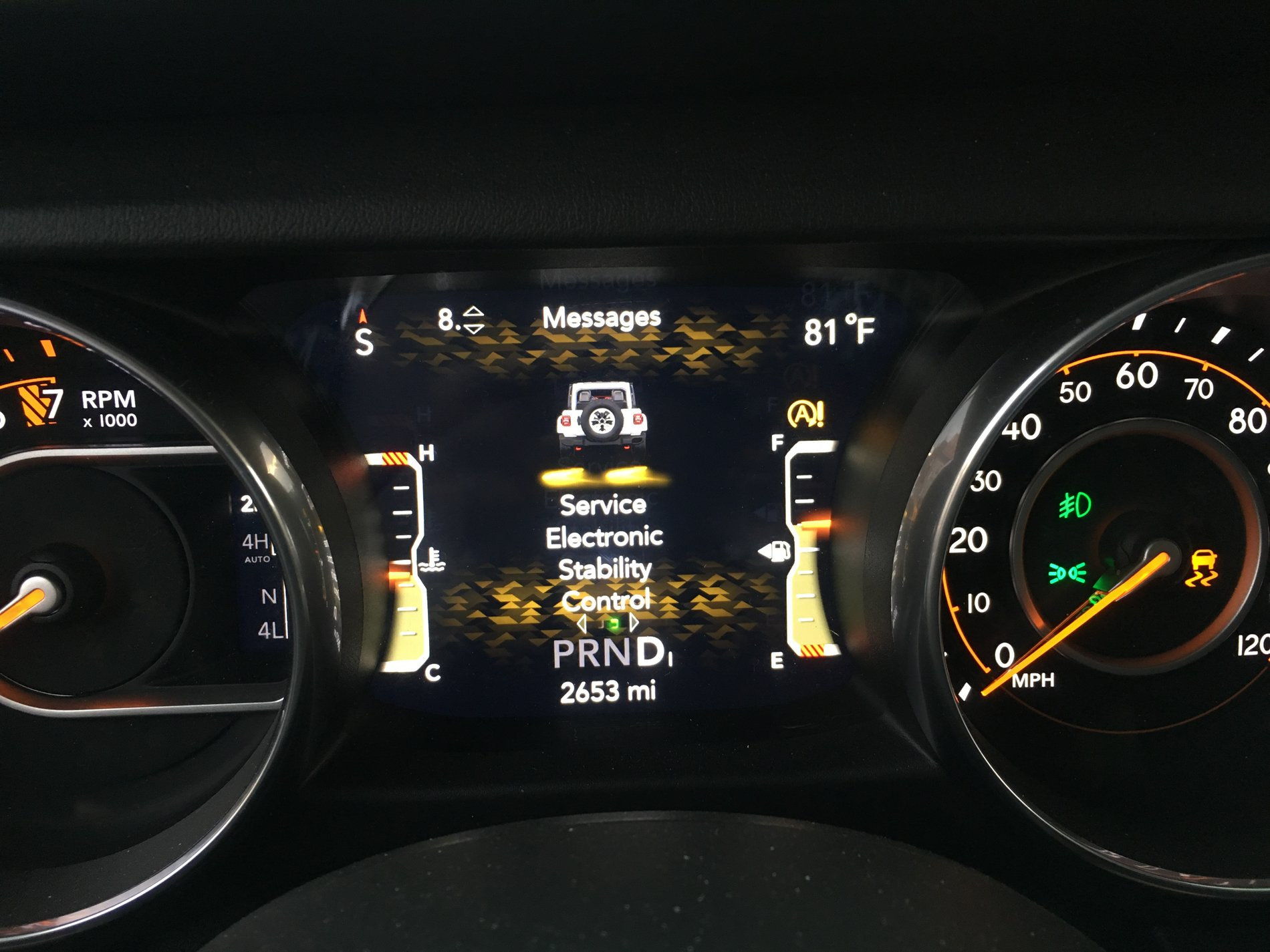 START STOP & ELECTRONIC STABILITY CONTROL SERVICE MESSAGE