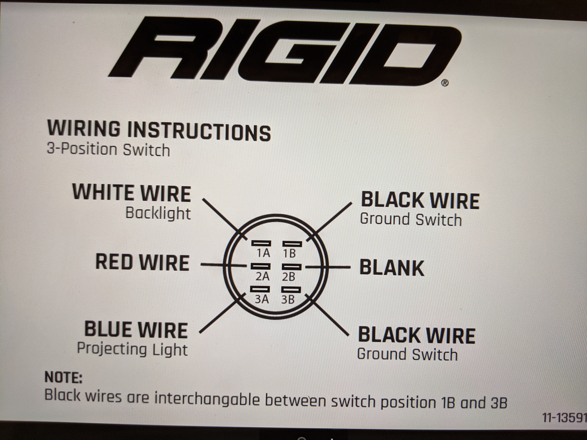 rigid lights wiring diagram rigid 360 series 3 way switch wiring   360 series lights  2018  rigid 360 series 3 way switch wiring