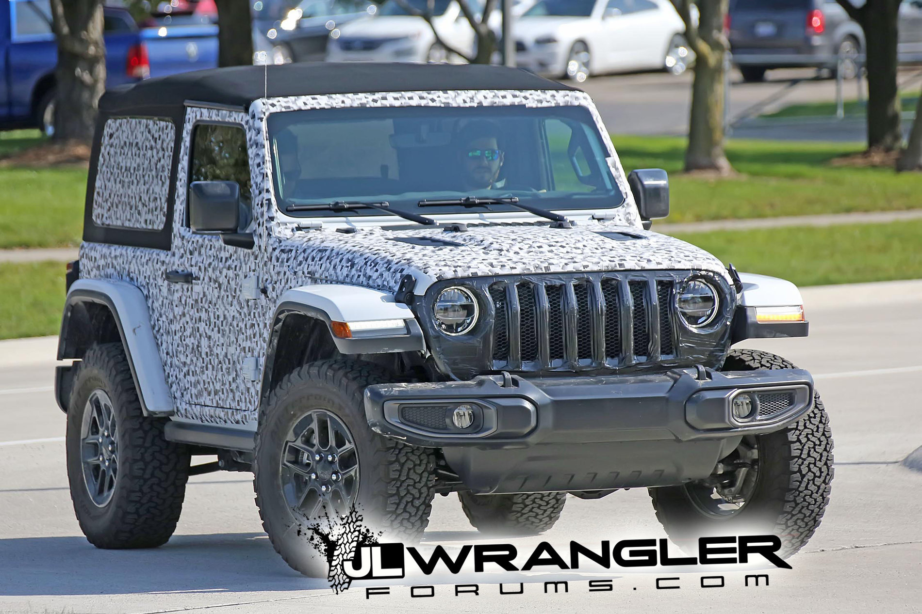 Spied Wrangler 2 Door Jl Rubicon Soft Top And Export Jl