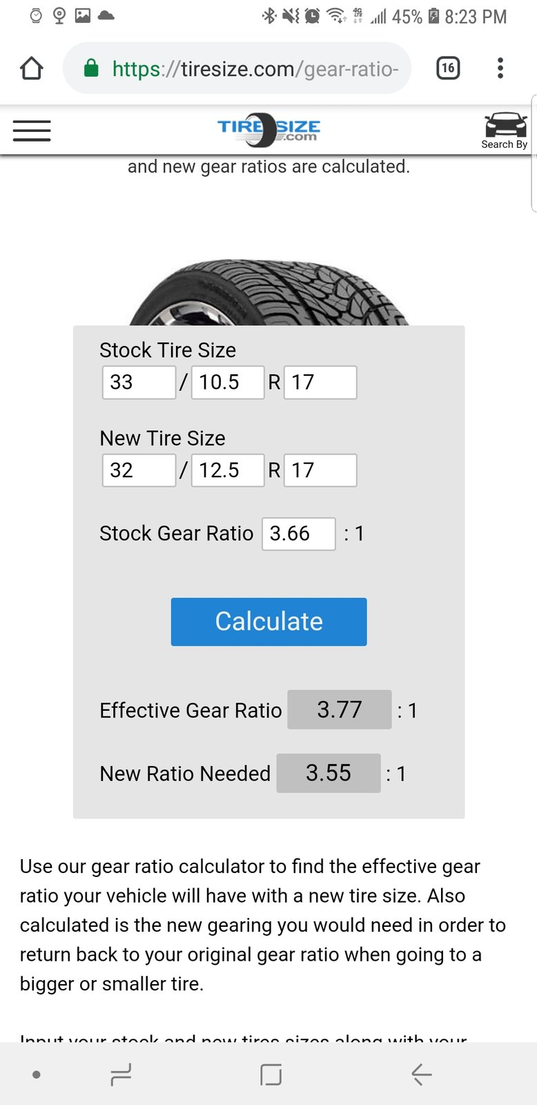 Tire Size Calculator Quadratec >> Question About Gearing With Rubicon 4 10s Calculation 2018 Jeep