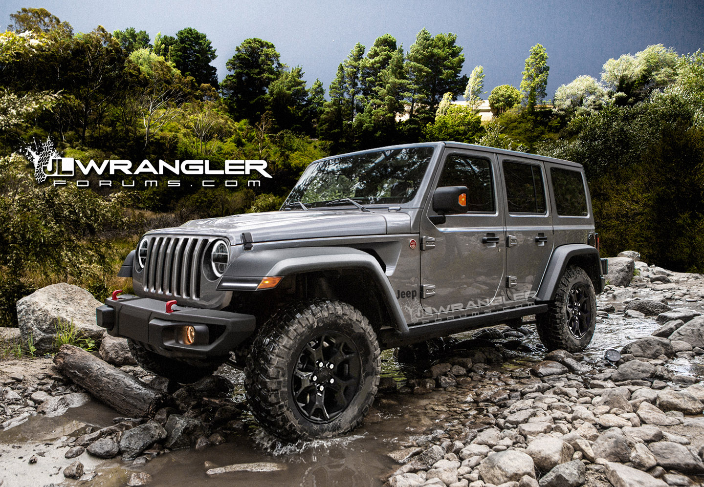 High Jeep Wrangler >> Renderings: New Jeep Wrangler JLU Brought to Life | 2018+ Jeep Wrangler Forums (JL / JT ...