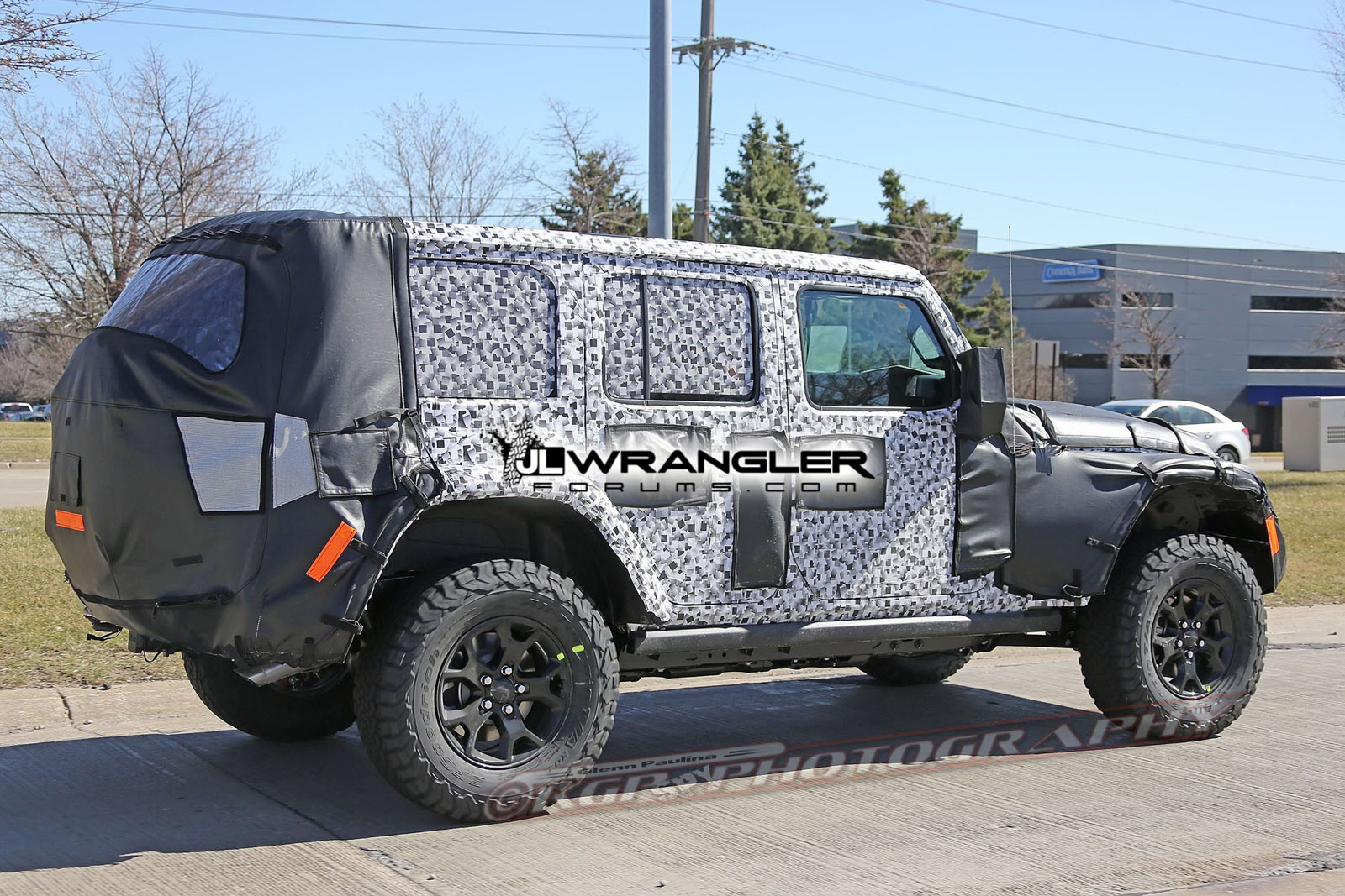 New 2018 Jeep Wrangler Unlimited Pictures Leak Online The Drive Leaking Roof Jk Jku Rubicon Model Still Features Rock Rails Also See