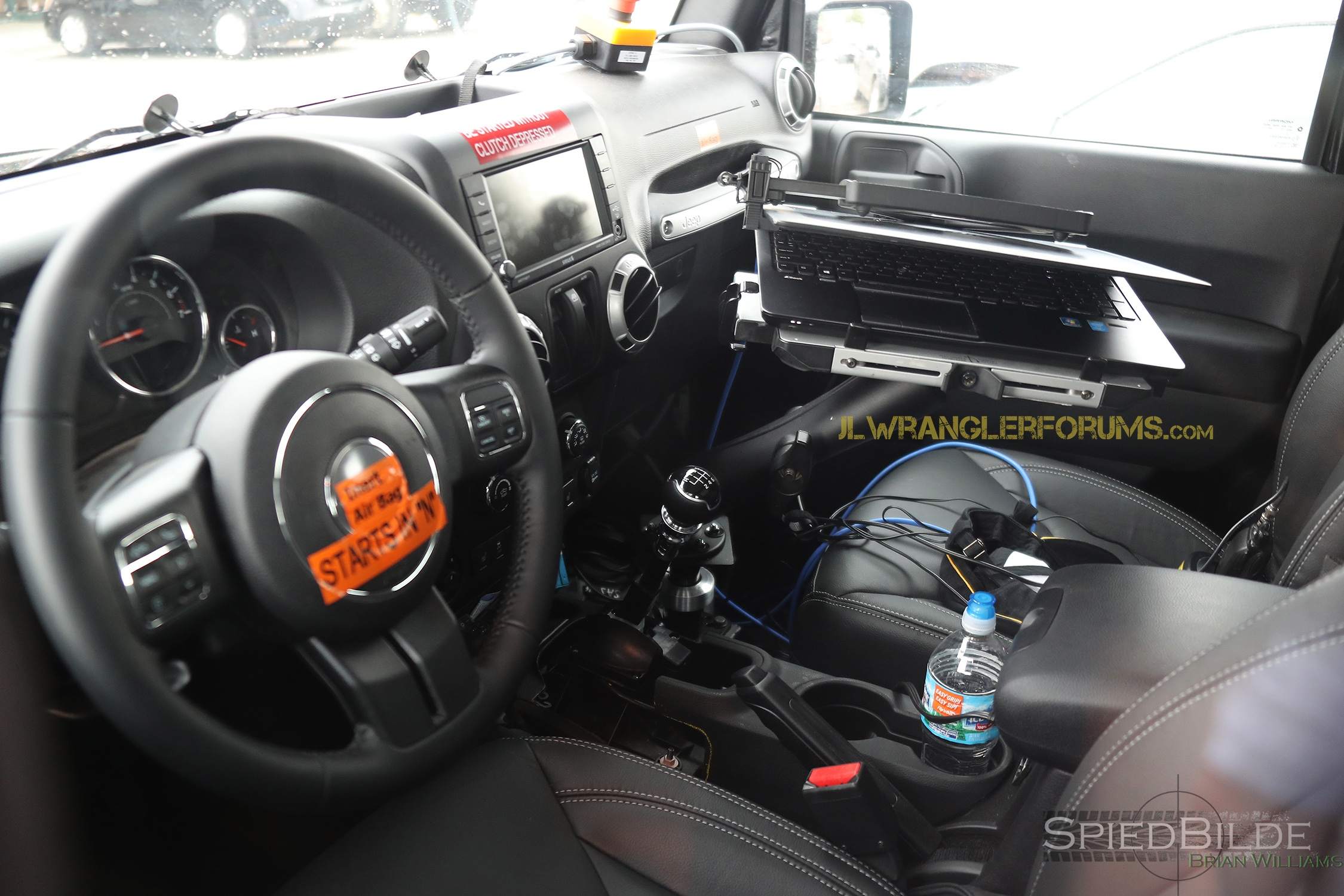 jeep wrangler 4 door interior. confirmed 2018 jeep wrangler still offers sixspeed manual spied in interior photos 4 door