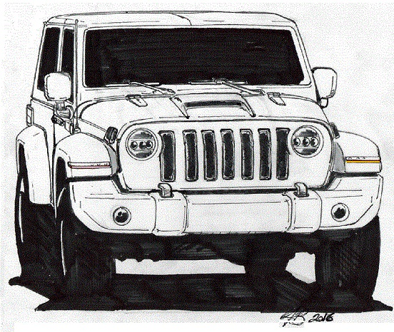 2018 jeep 2 door wrangler. brilliant door 2018 jeep wrangler 2door gets predictive sketch and jeep 2 door wrangler