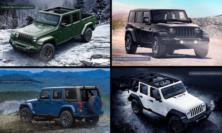 2018 jeep jt. wonderful 2018 new jeep wrangler 2018 unlimited and pickup jt preview renderings intended 2018 jeep jt
