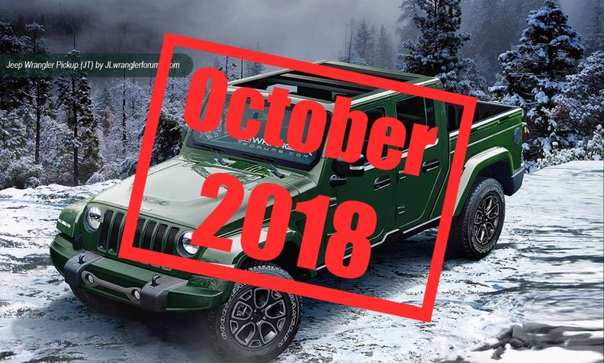 2019 Jt Wrangler Pickup Truck Production 2018 Jeep
