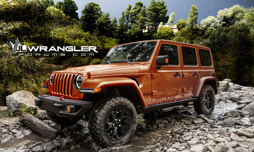 New 2018 Jeep Wrangler render JLwranglerforums