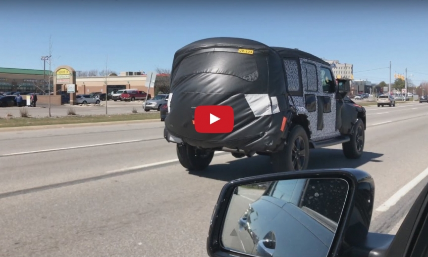 New Jeep Wrangler Unlimited Sahara Caught on Video  2018 Jeep