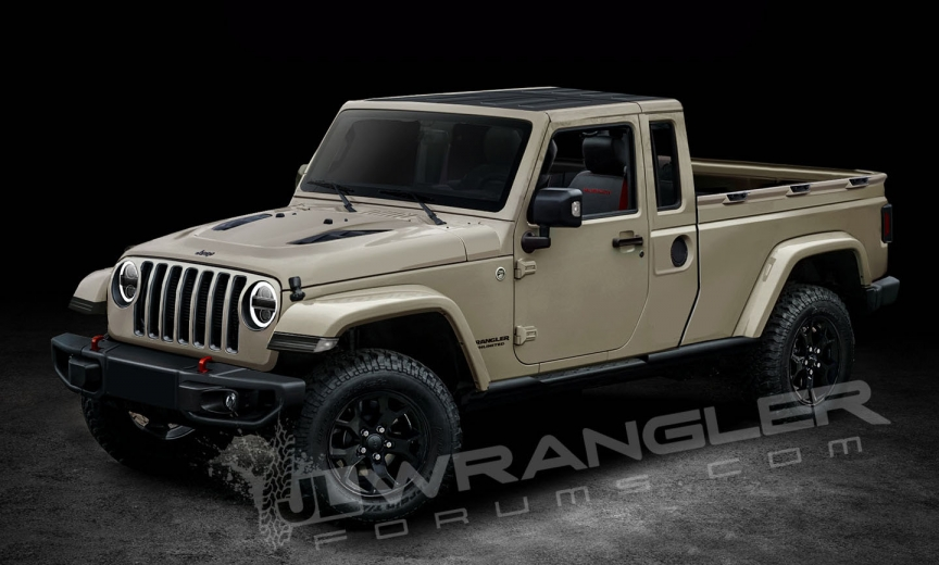Jeep Wrangler Pickup Truck 2017 >> Our Latest 2019 Jeep JT Pickup Info and Preview Images – 2018+ Jeep Wrangler (JL) Forums – New ...