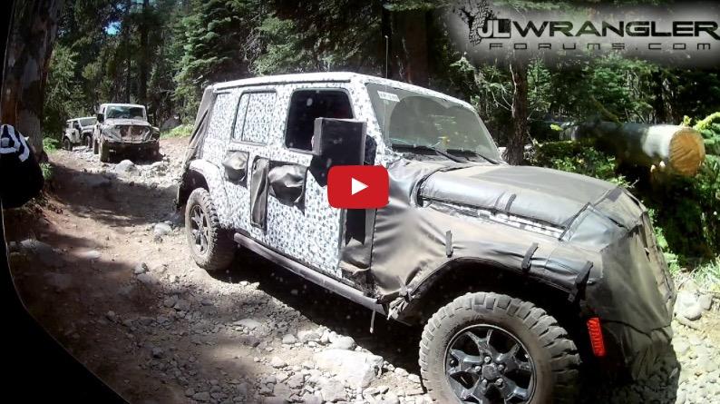 Jeep Wrangler JL/JLU Prototypes on the Rubicon Trail ...
