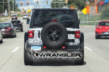 2018 jeep wrangler colors. exellent wrangler black 2018 jeep wrangler rubicon spied with exposed rear hardtop jeep wrangler colors