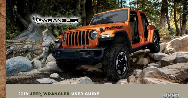 2018 Jeep Wrangler JL Owners Manual and User Guide