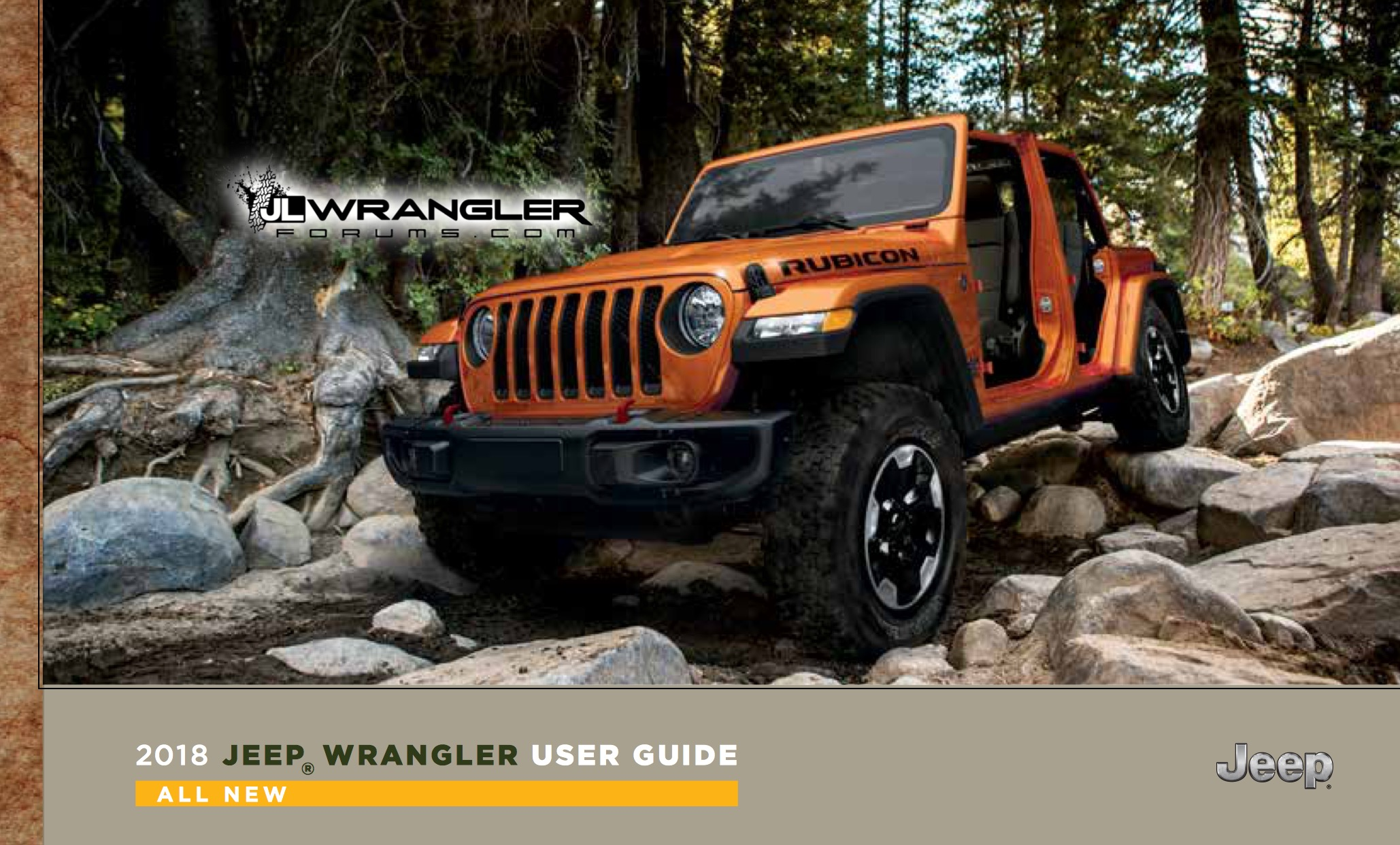 Leaked: 2018 Jeep Wrangler JL Owner's Manual & User Guide! – 2018+ Jeep  Wrangler (JL) Forums – New Jeep Wrangler (JL / JT) News and Forum ...