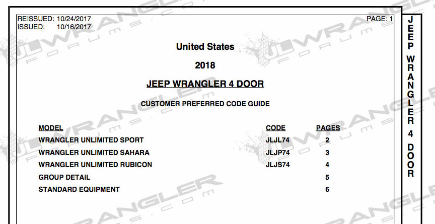 2018 jeep order. plain jeep 2018 jeep wrangler jlu order guide banks now open for jeep order s