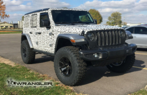JL Wrangler with 3 inch Mopar lift kit, Mopar wheels and 37 inch tires