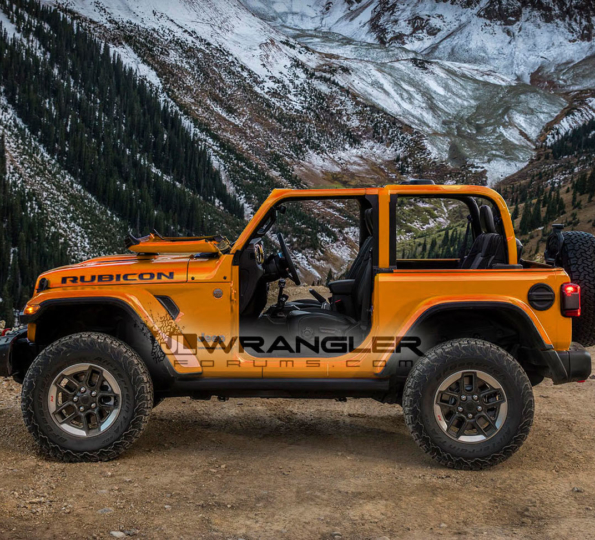 2018 Wrangler Unlimited Jlu Spotted In Green Color