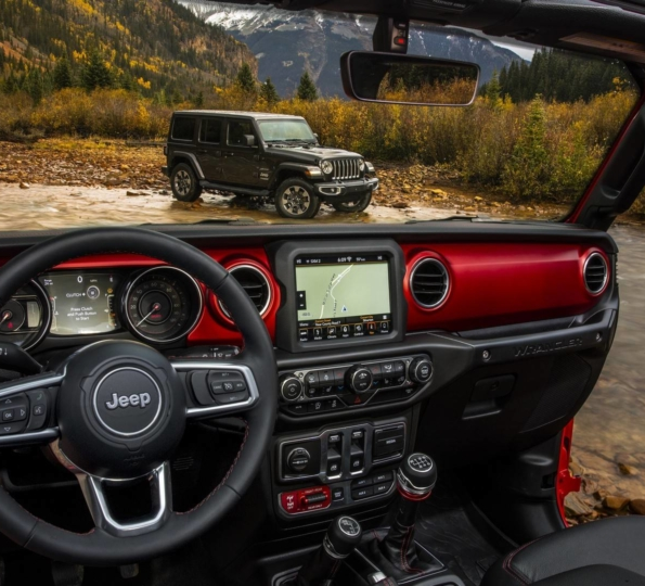 Full Interior View Of The 2018 Jl Wrangler 2018 Jeep