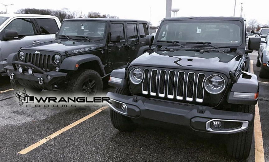 Jl Versus Jk Wrangler Compared Side By Side 2018 Jeep