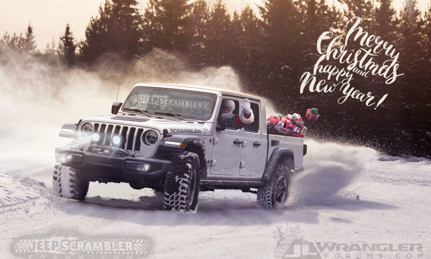 2017 Jeep Wrangler Pickup Price >> Happy Holidays and Merry Christmas from Us and Santa in his Jeep Pickup! – 2018+ Jeep Wrangler ...