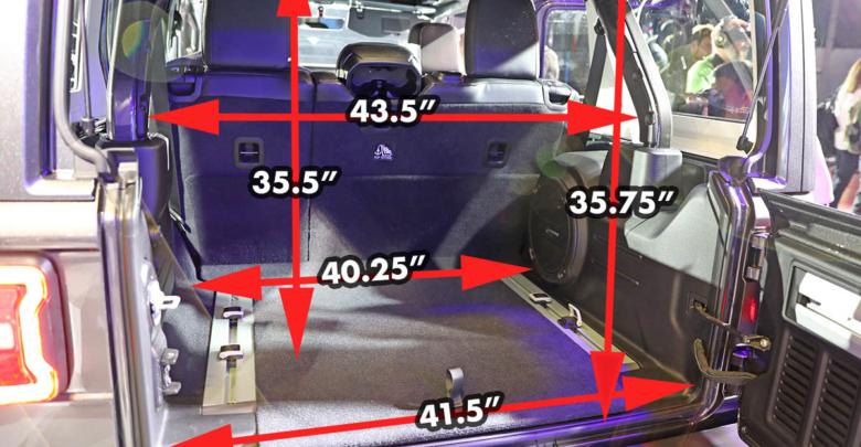 2018 Jeep Jlu Wrangler Dimensions Measurements 2018 Jeep