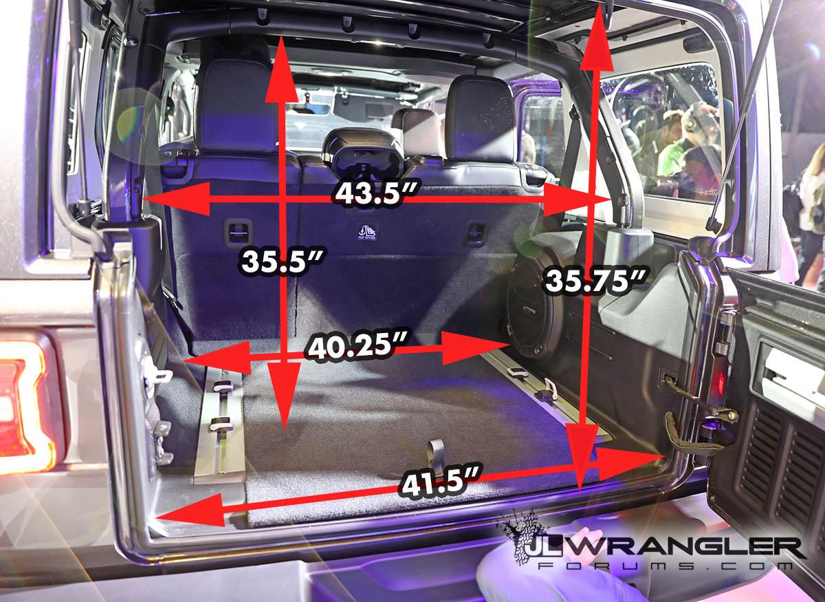 2018 Jeep Jlu Wrangler Dimensions Amp Measurements 2018