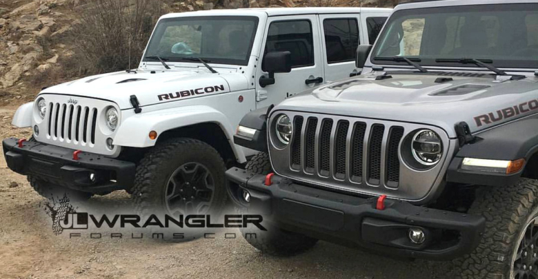 6d28f0d5d9 Jeep Wrangler Vs Rubicon >> Jl Vs Jk Wrangler Rubicon Visual Comparison  2018 Jeep Wrangler