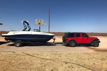 2018 Jeep Wrangler JL boat tow