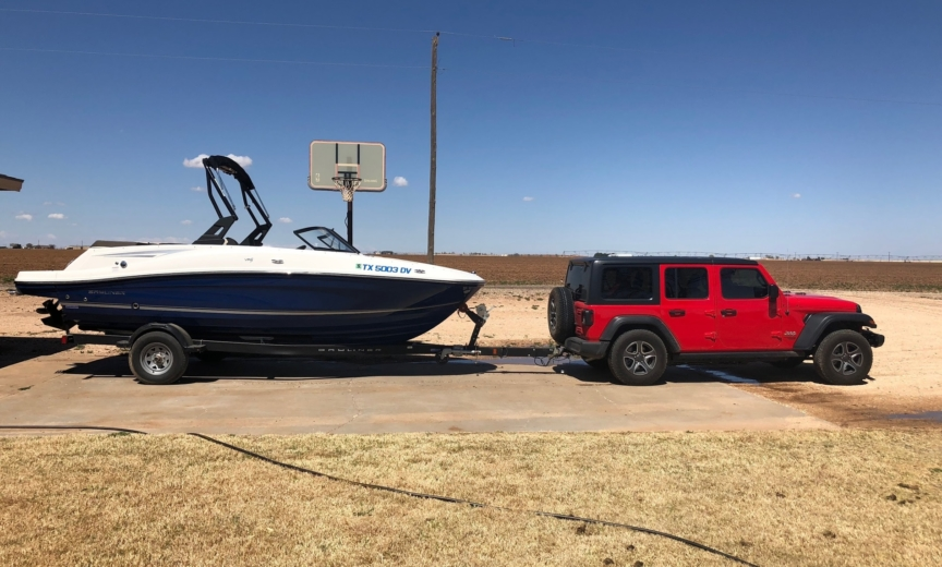 2018 Jeep Wrangler JL boat tow