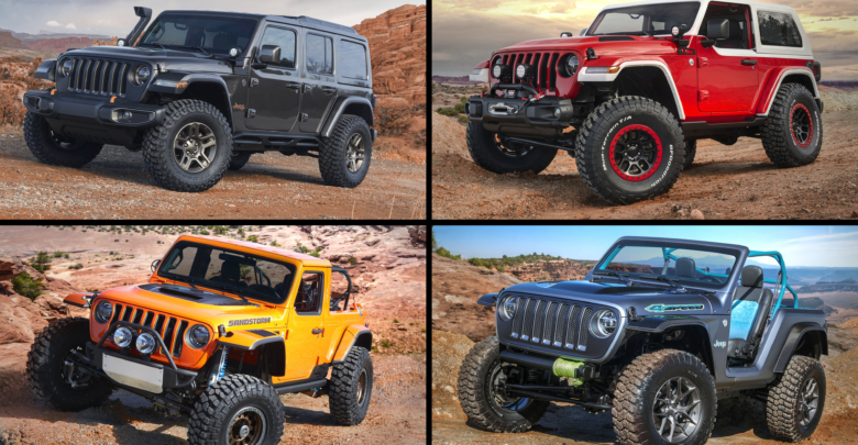 Wrangler Based 2018 Jeep Easter Safari Concepts Revealed 4sd Sandstorm Nacho Jeepster J Wagon