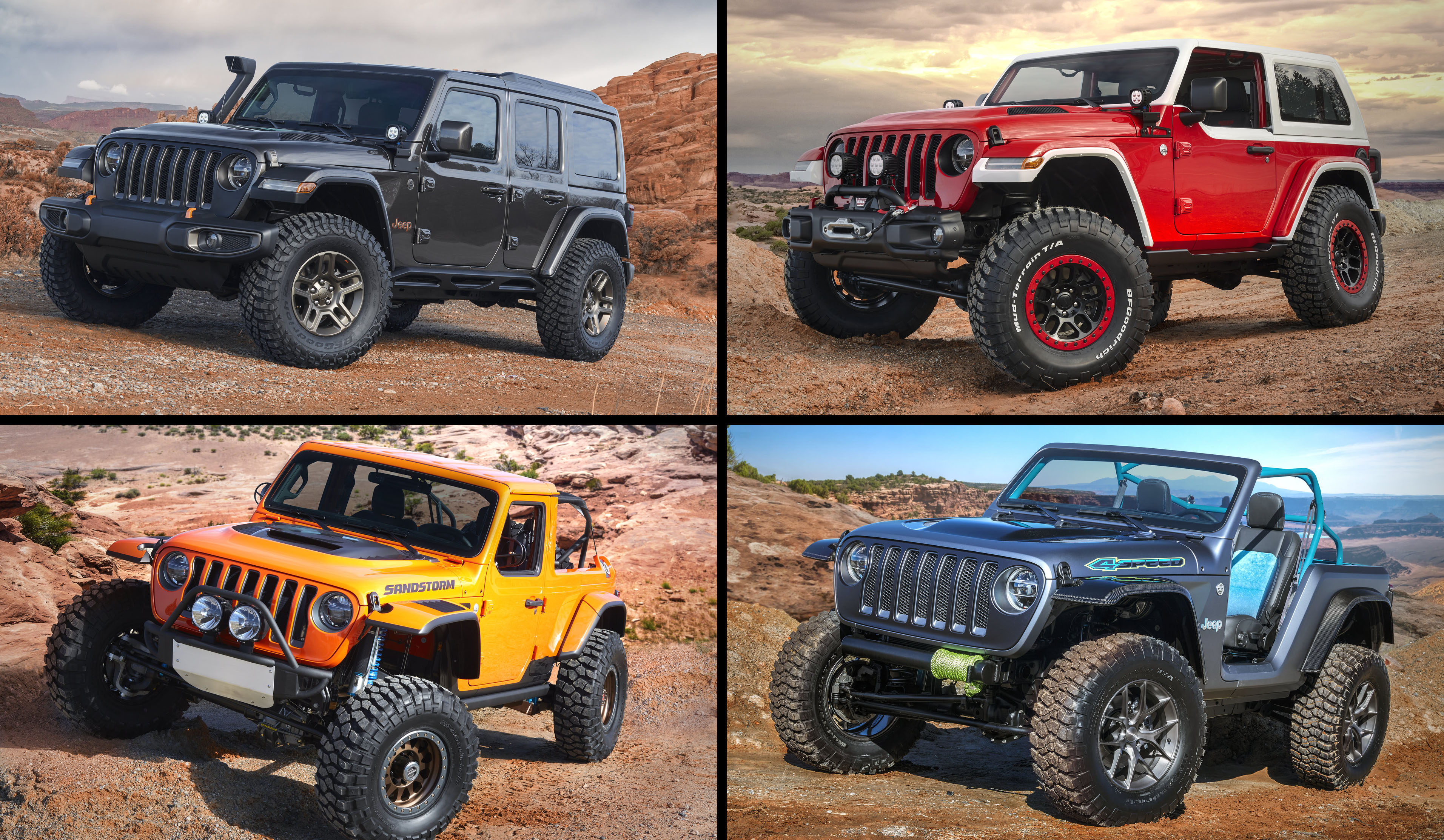 Wrangler Based 2018 Jeep Easter Safari Concepts Revealed 4sd Sandstorm Nacho Jeepster J Wagon Jl Forums New
