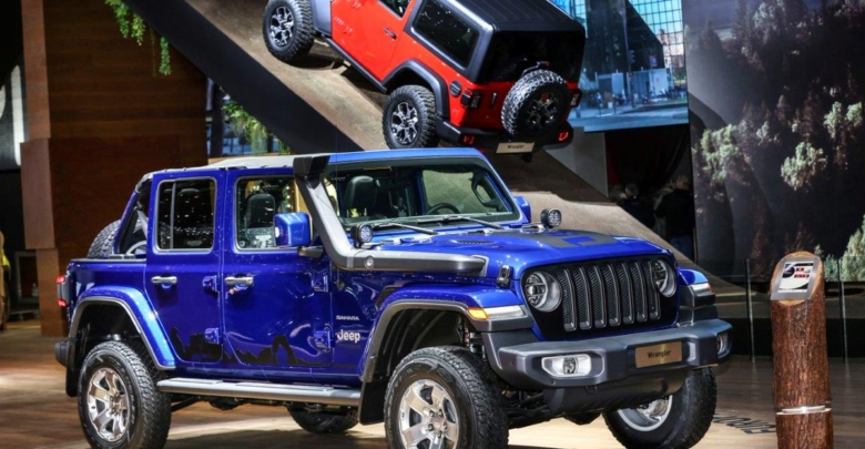 Jeep Jl Wrangler In Ocean Blue With Mopar Parts At Geneva