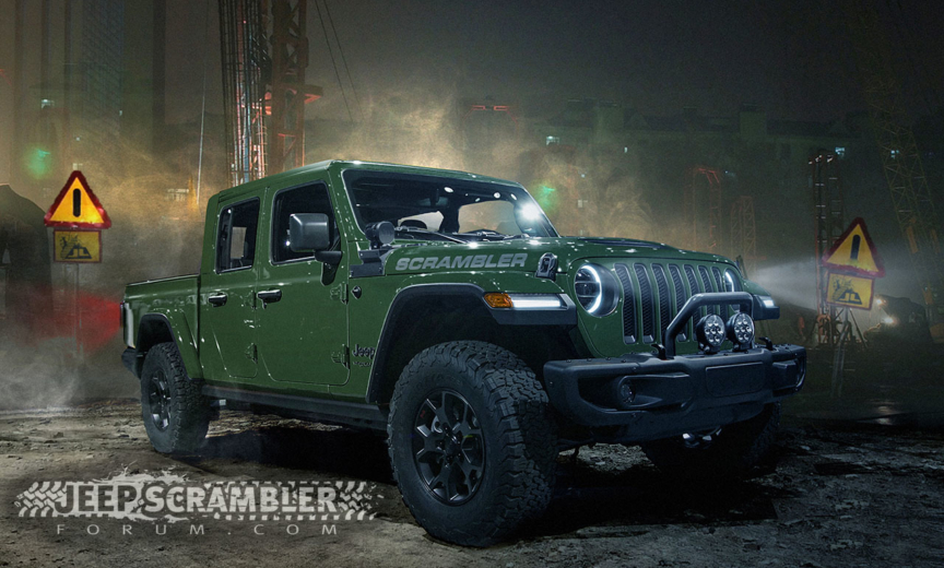 upcoming scrambler called article get name be the engine jeep pickup and wrangler copyright green to power diesel jtu jlwranglerforums rumormill truck option