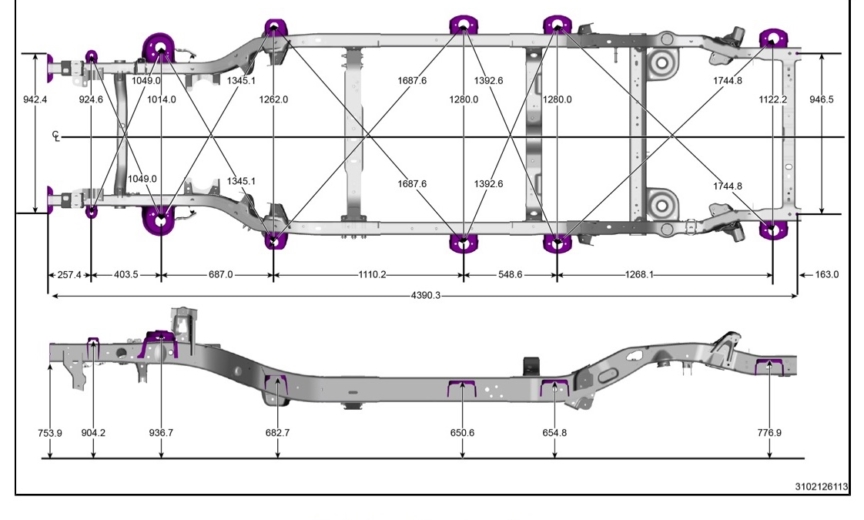 JL Frame, Body Openings and Gap & Flush Dimensions – 2018+ Jeep ...