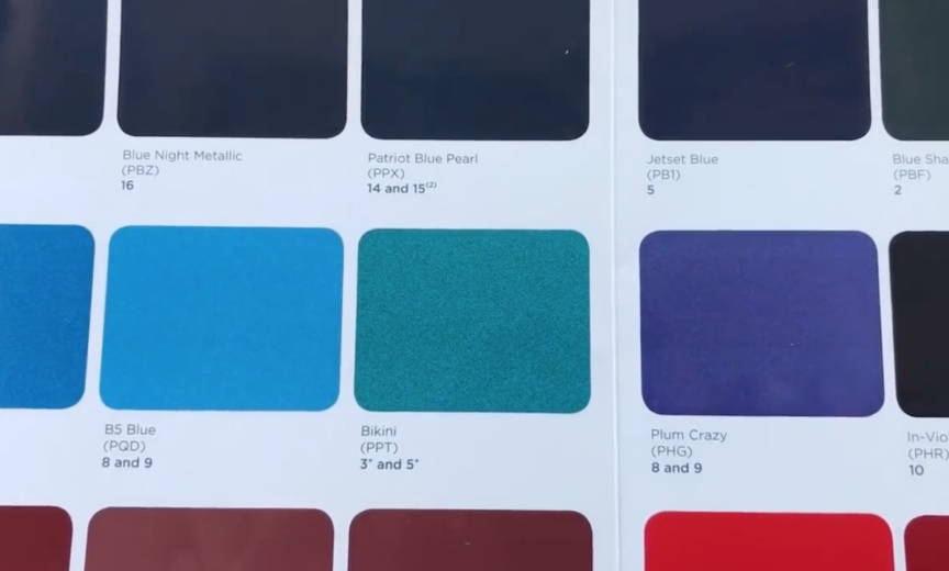 2019 Jeep Wrangler JL colors swatches