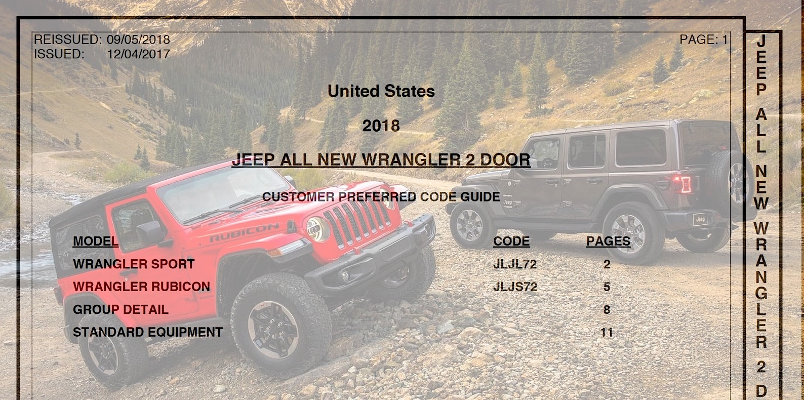 September 2018 Jeep Wrangler Jl Order Guides 2018 Jeep