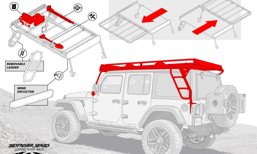 Jl Sliding Roof Rack Preview From Lod Offroad 2018 Jeep Wrangler Jl Forums New Jeep Wrangler Jl Jt News And Forum