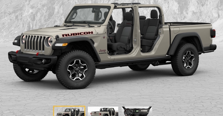 Jeep Gladiator Build Price Configurator Now Live 2018 Jeep