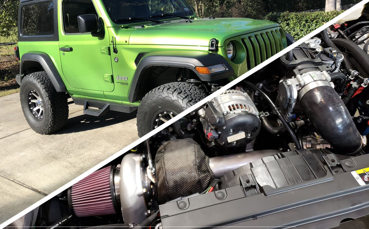 A Stage 2 Turbo Kit Powers This Little Green Monster Jeep