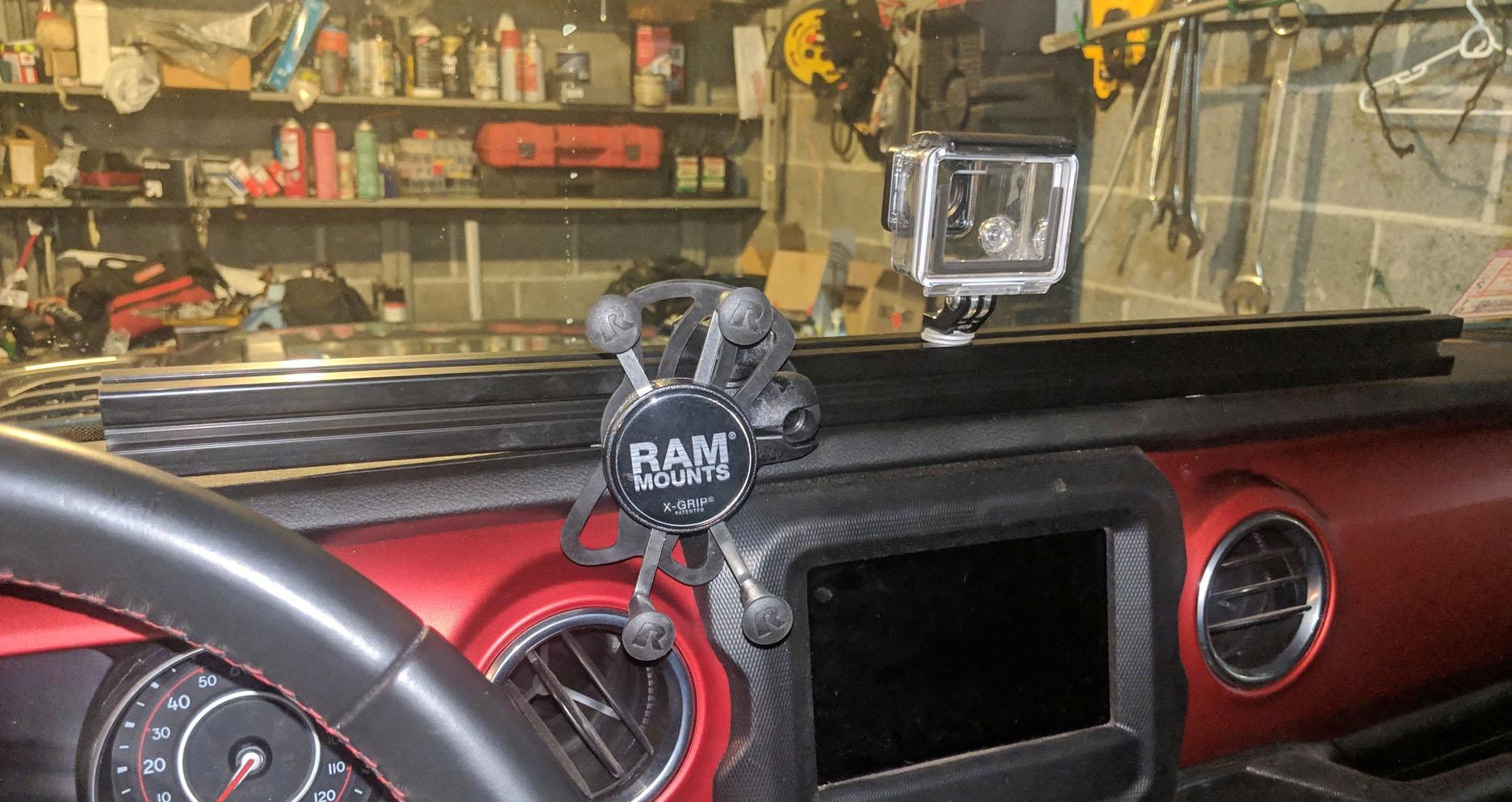 Build A Jeep >> Fabricating a Home Made Dash Rail Mount Bar for JL (DIY Writeup) – 2018+ Jeep Wrangler (JL) News ...